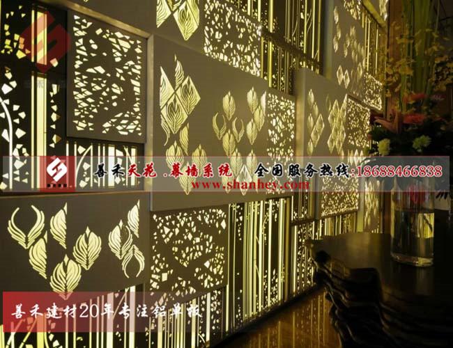 氟碳铝单板幕墙、冲孔铝单板价格