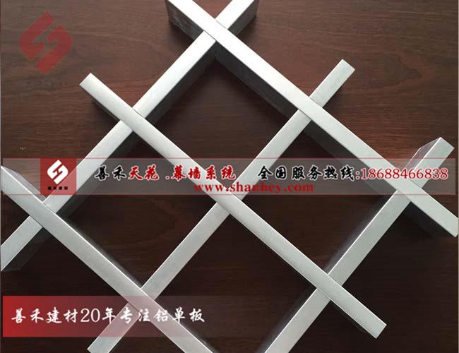 佛山铝格栅厂家、三角形U型铝格