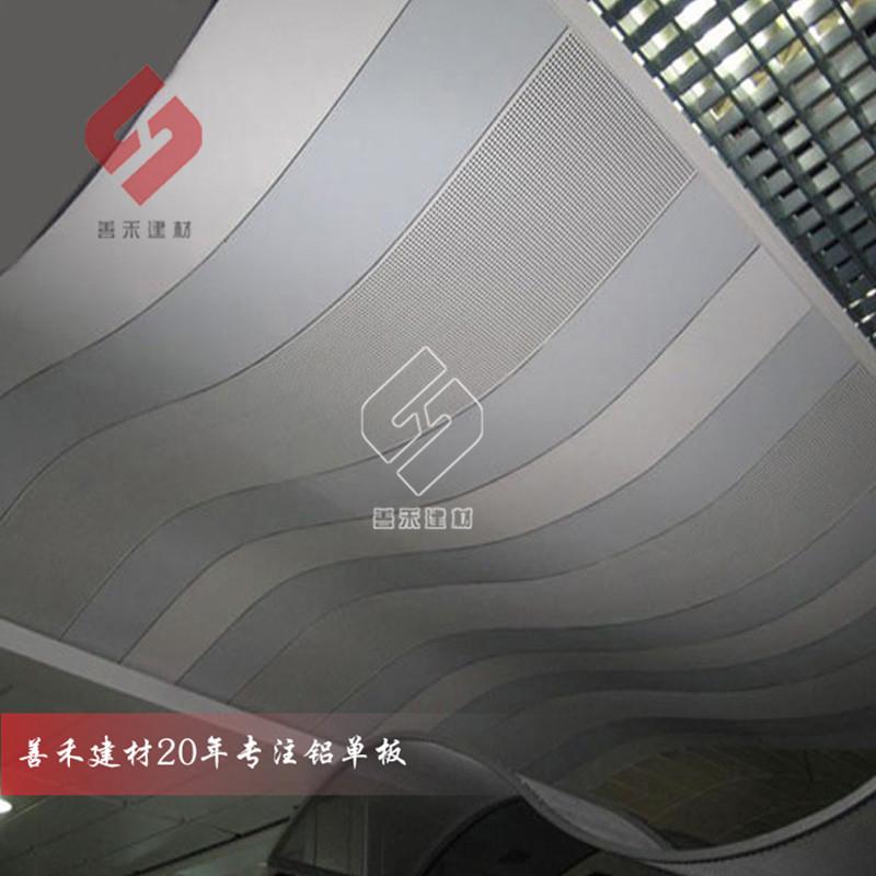 加油站高边防风铝条扣、木纹铝条